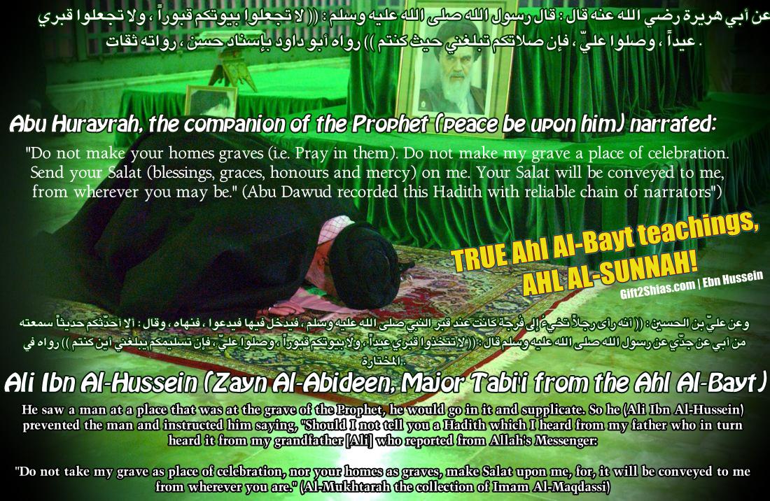 Maula Ali Shrine Wallpaper: Prophet, Sahabah And Ahl Al-Bayt About Praying At/near