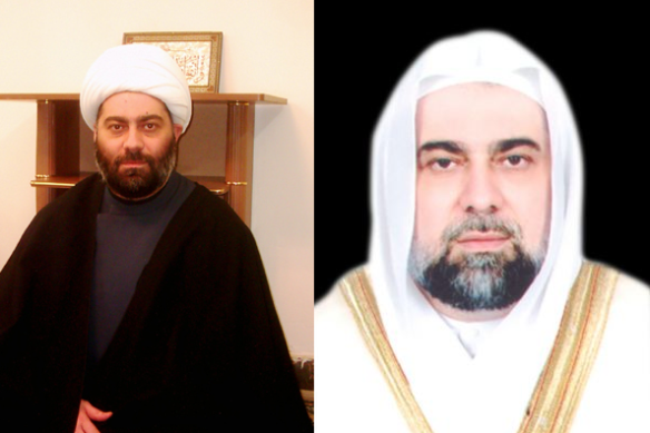 Left (Shia), right (Muslim, Sunnah)