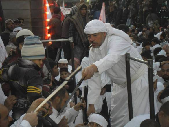 Hindus are humans who worship cows, Rawafidh are cows who worship humans. The butcher is smoking and smacking their empty skulls and they run around like like headless chicken shouting 'Ya Hussein' How accursed these polytheists are. Shirk, Kufr, superstition, heresy and immorality, all gathered in one place.