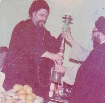 Another top-notch Shia scholar, the  Iranian-Lebanese Ayatullat Musa al-Sadr. Of course like the rest of the gang he too was a passionate smoker.