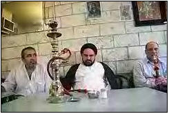 Look at the spirituality, what a ascetic, waiting for his Kabab and Shisha all day long ...