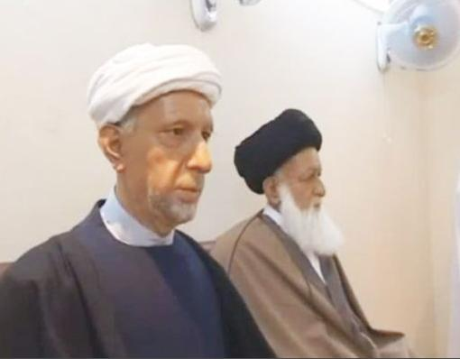 Ayatullat al-Waeli (left) and Ayatullat al-Khoie (right)